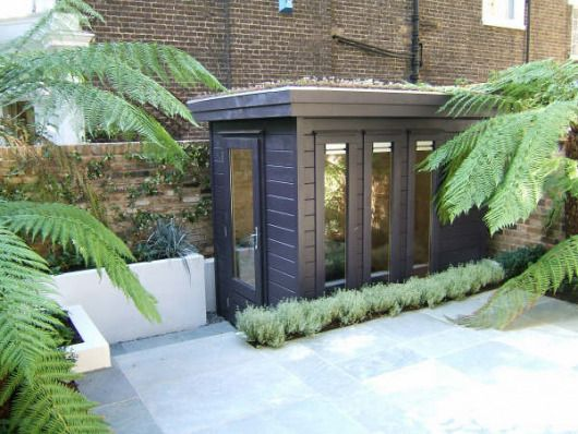 Mini Garden Office (1) with green roof 2.5m high