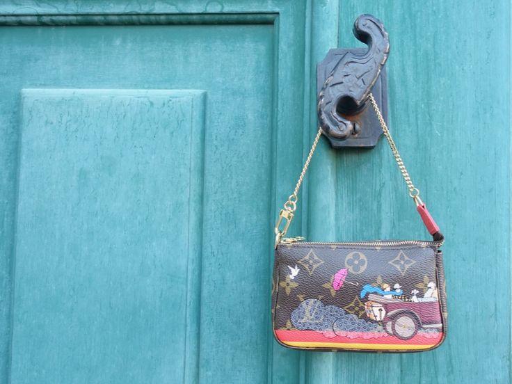 Louis Vuitton Mini Pochette Accessoires Illustrations with vintage car - HappyFace313