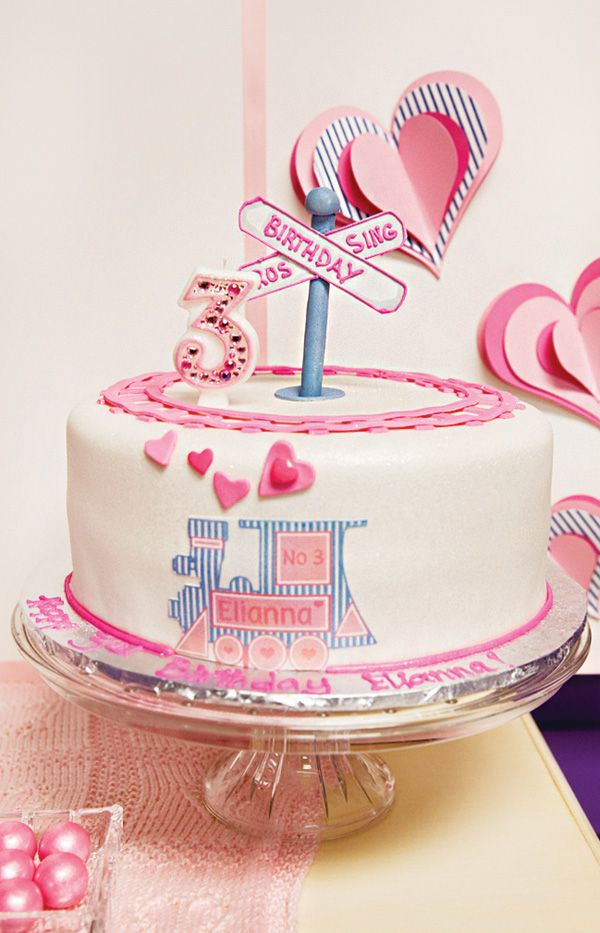 {Cute & Girlie!} Train of Love 3rd Birthday Party: The Cake