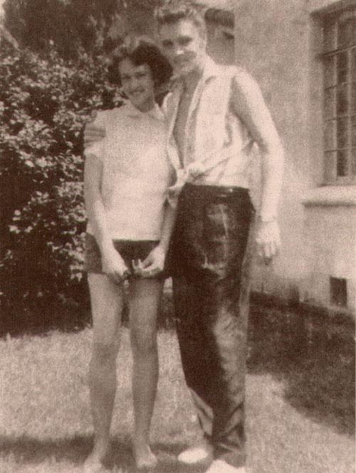 When Elvis Presley was 15, he and Betty McMahan, posed across the street from Lauderdale Courts housing development, where the Presley family lived from 1949 to 1953.