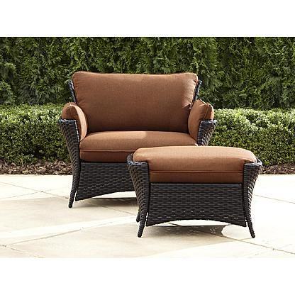 la z boy outdoor everett oversized chair with ottoman poolside in rh pinterest com