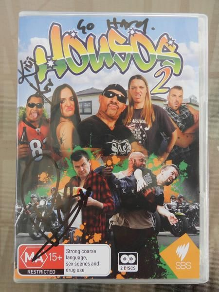 Signed by members of the cast, this is a rare opportunity to own a piece of Aussie TV memrobilia. Housos Series 2 is the next chapter of action packed, anti aut