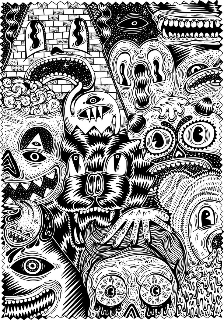 Free Coloring Page For Adult 7 Warning Scary Or