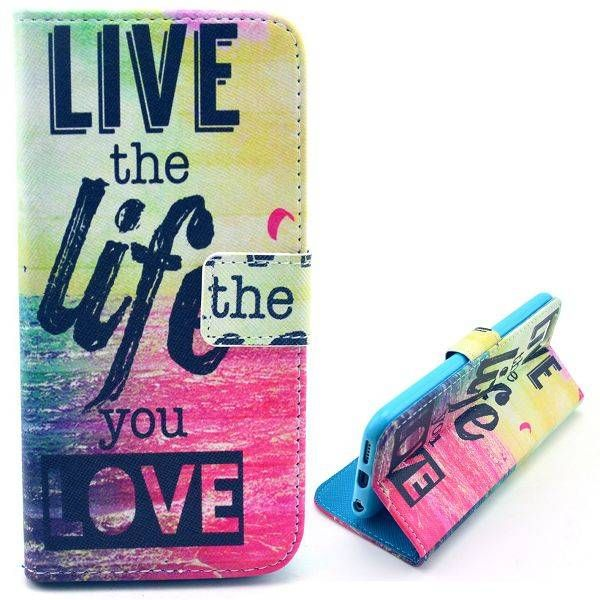 Live the Life You Love bookcase voor iPhone 6 Plus