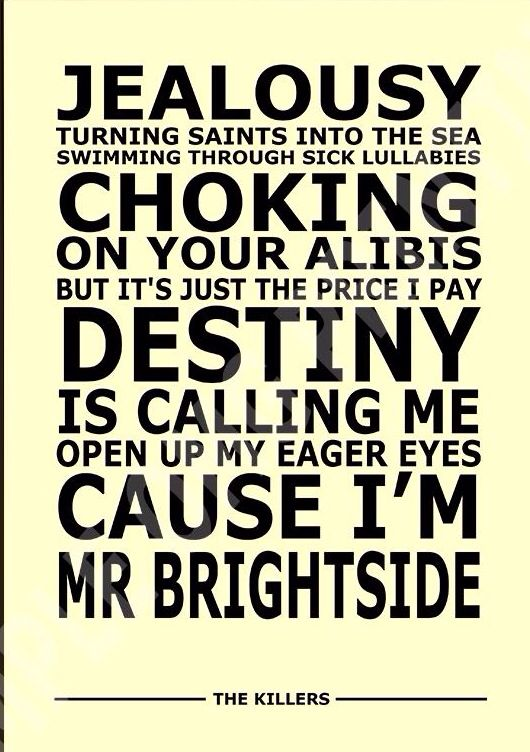 Mr Brightside~ The Killers