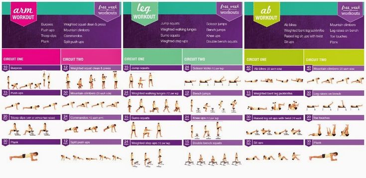 kayla itsines workout plan - Google Search