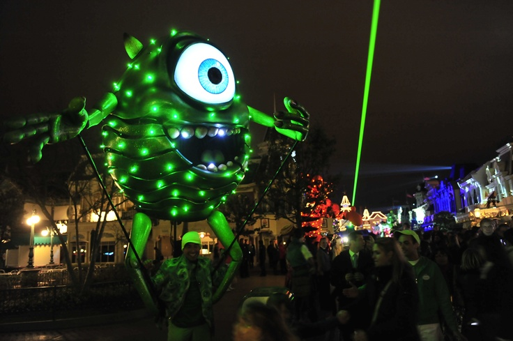 Mike Wazowski - my hero (illuminated version of him during the press event for the 20th anniversary of DLP)