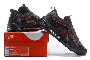 san francisco 50fa9 5f585 Men s Nike Air Max 97 SE Tartan Black black-university red-amarillo AV8220- 001 Casual Shoes Sneakers