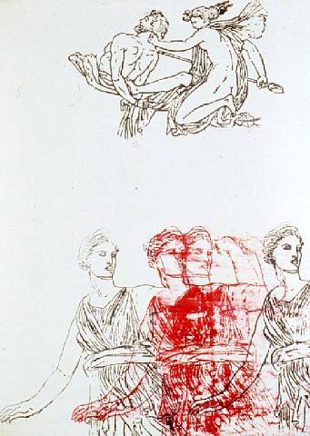 Artemis, Goddess and Centaur//Nancy Spero