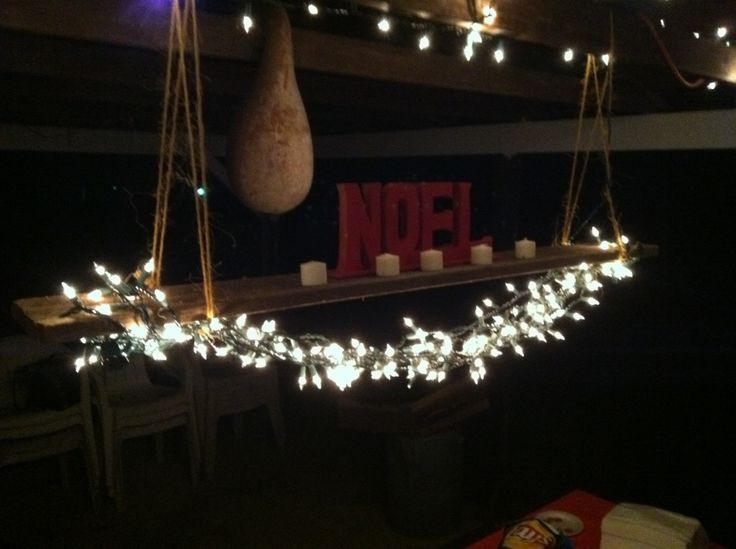 The 25 best diy christmas light chandelier ideas on pinterest musesofdesign diy christmas chandelier take the twine and loop it over the old board and attach it to the ceiling aloadofball Choice Image