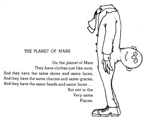 Shel Silverstein Illustrations: The Planet Of Mars By Shel Silverstein Is This What NASA