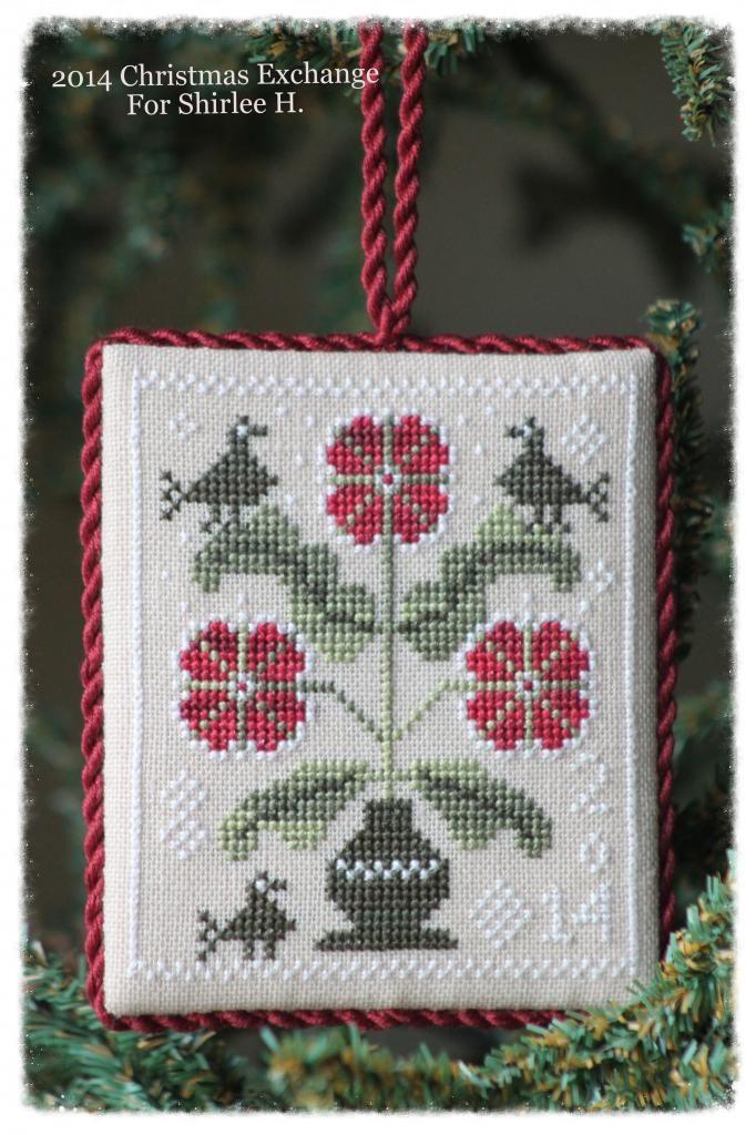 2104 Ornament Exchange. Cross stitch. Blackbird Design