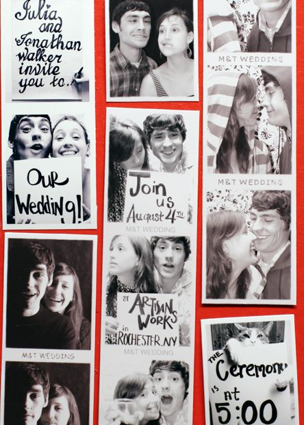 Unusual Wedding Invitations......why would I defiantly do this?