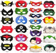 Antifaces superheroes