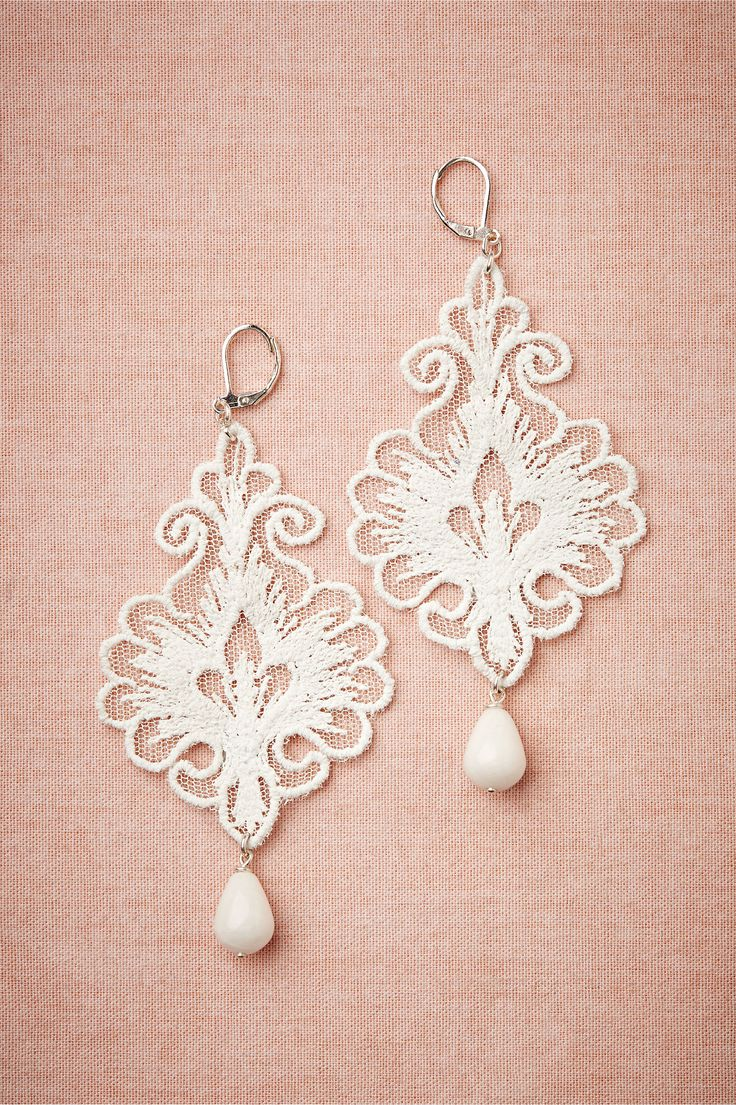 2014 Wedding Trends | Lace Weddings | Lace Wedding Inspiration | Regalia Earrings from BHLDN