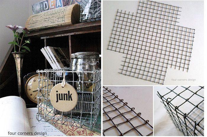 Recopilación de ideas para usar cestas métalicas en decoración , DIY y donde comprar.