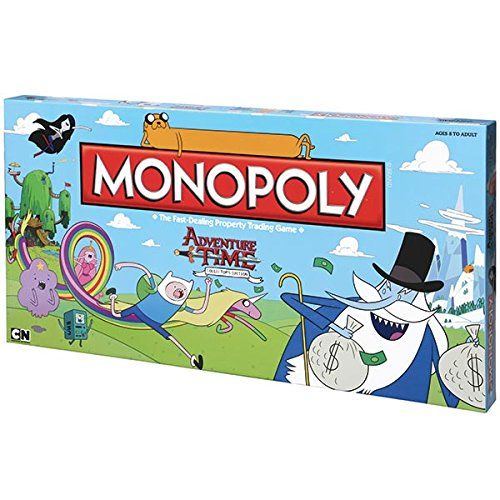 Adventure Time Monopoly Game _ For 2 to 6 Players @ niftywarehouse.com #NiftyWarehouse #AdventureTime #TVShow #Cartoon #Show #CartoonNetwork