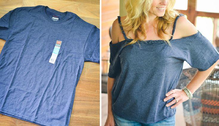 Como hacer camisetas off shoulder perfectas para el verano ¡Costuras a mano!1