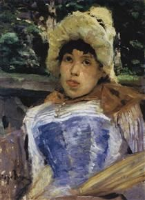 Portrait of achorus girl - Konstantin Korovin