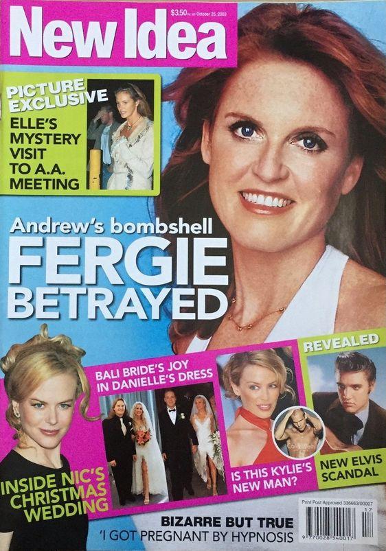New Idea Magazine October 25, 2003 - Sarah Ferguson