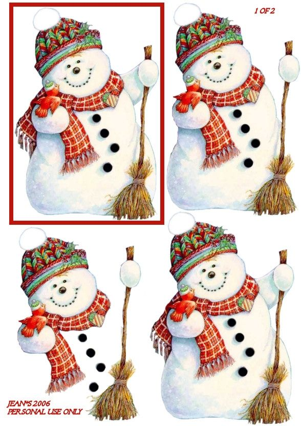 323 best 3d christmas images on pinterest christmas cards 3d snowman 3d card topper spiritdancerdesigns Images