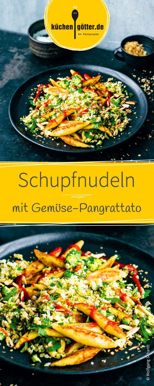 Die selbstgeachten Schupfnudeln mit Gemüse-Pangrattato sind super lecker und eignen sich perfekt als köstliches vegetarisches Gericht für die ganze Familie!