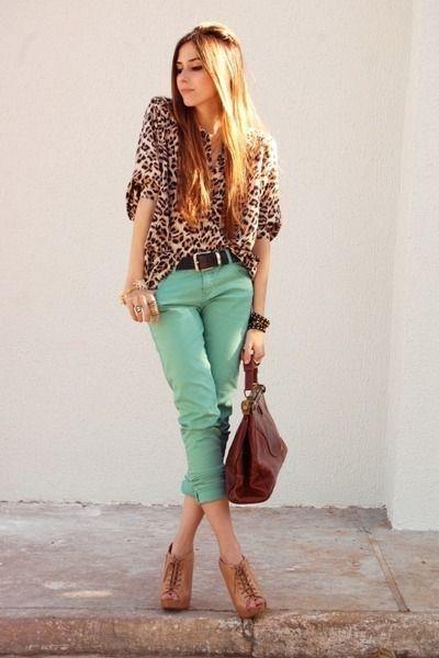 Cómo combinar pantalones verde menta - IMujer