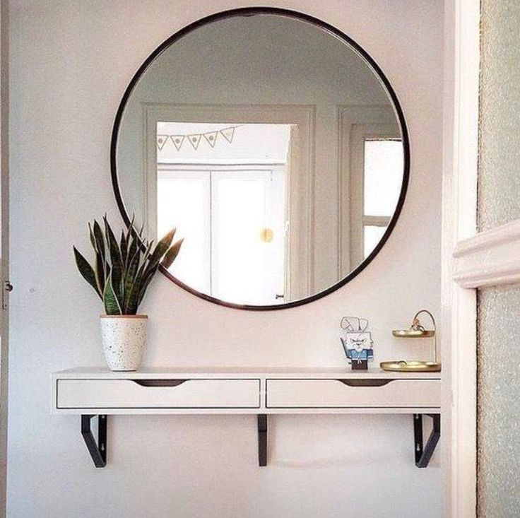 12+ Fabulous Round Wall Mirror Rustic Ideas