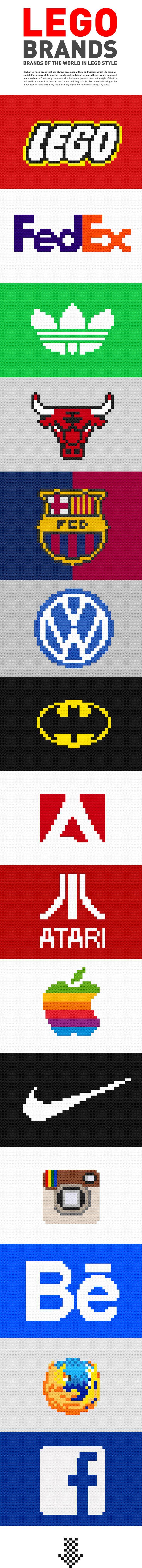 #lego #brand #identity #design #nike #adidas #facebook #chicago bulls #barcelona #atari #logo