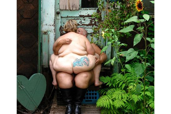"""30 Beautiful Portraits Of Fat Couples Challenge Sizeism (NSFW) #refinery29  http://www.refinery29.com/adipositivity-project-fat-acceptance-photos#slide-6  """"Not the unwitting, headless, fat folks in grease-stained T-shirts the media (fueled by the $66-billion/year U.S. weight-loss industry) would have you believe we are."""""""