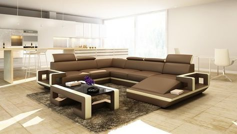 divani casa 5102 modern bonded leather sectional sofa by vig rh pinterest es