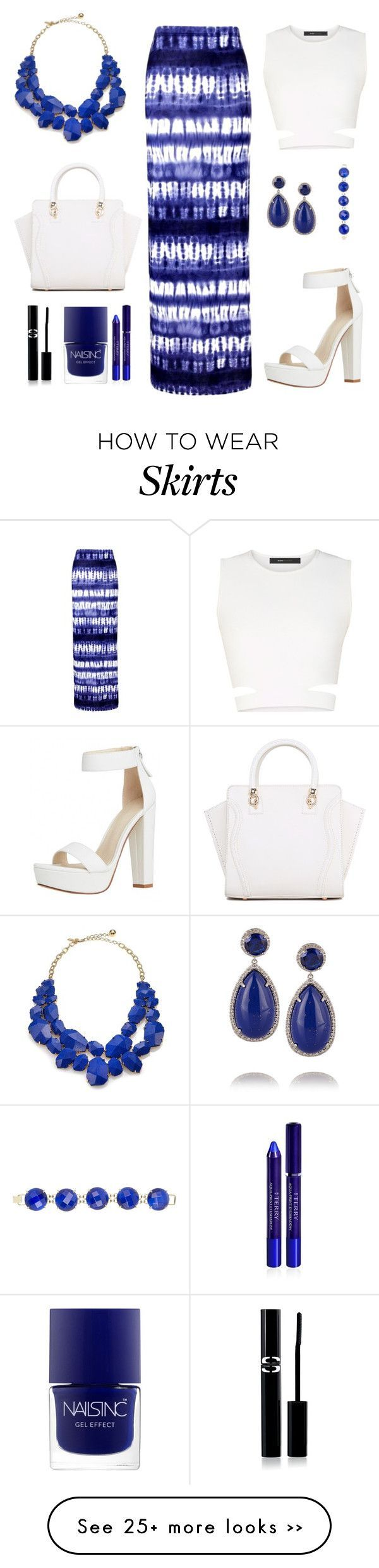 """Blue skirt"" by flo01 on Polyvore – #blue #flo01 #polyvore #skirt"