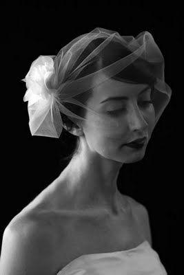 blusher. cute short vintage yet modern looking veil