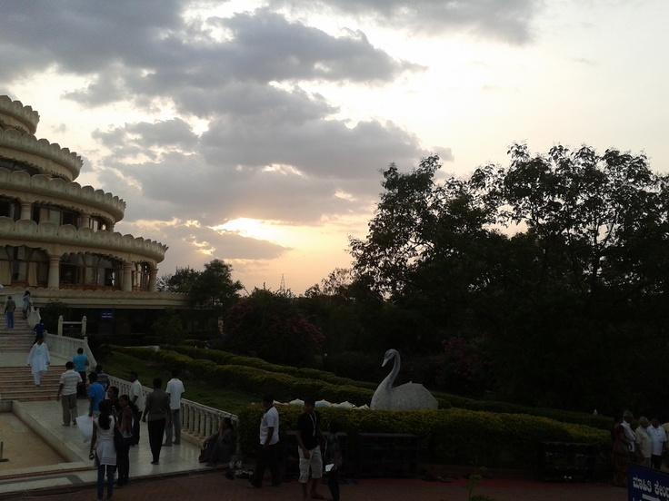 Vishalaskhi Mantap during sunset.