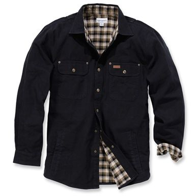 The Carhartt Weathered Canvas Shirt Jacket features a range of practical features, combined with great comfort. Made from 100% cotton flannel lined canvas fabric, its triple stitched main seams makes this shirt jacket durable and gets you ready for a tough day wherever you find yourself working.