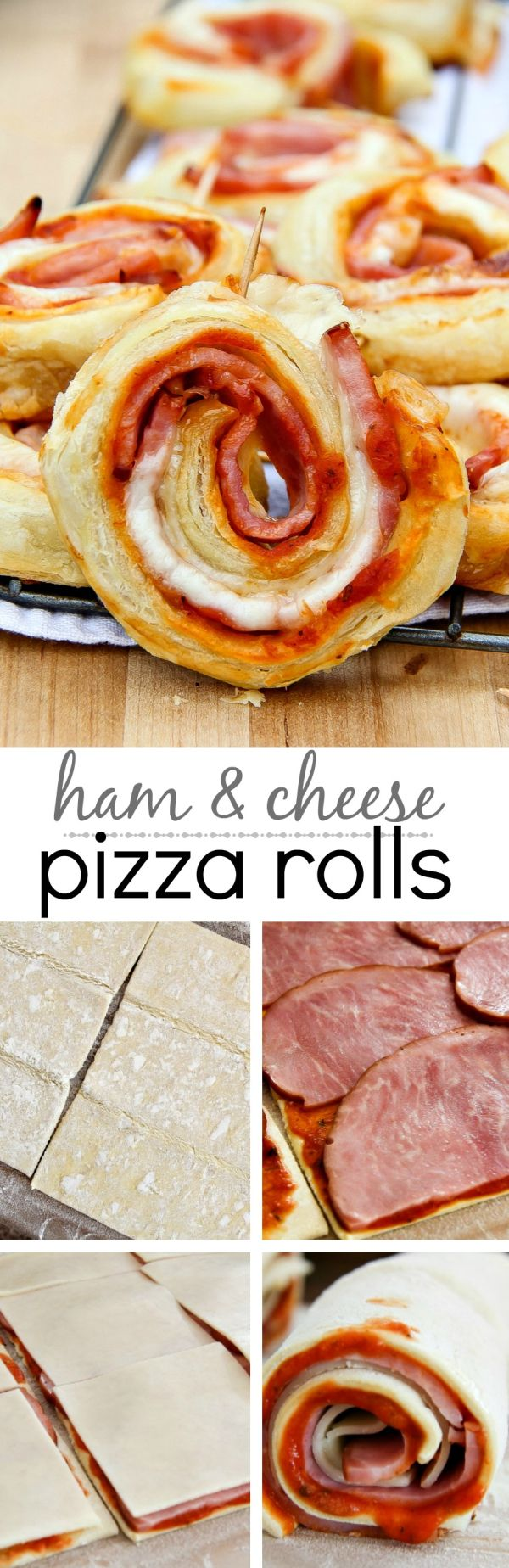 These ham and cheese pizza rolls are the perfect way to use that leftover ham from the holidays   SmithfieldBaconBar     AD