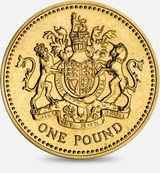 1983 Royal Arms £1 (One Pound) Coin #CoinHunt