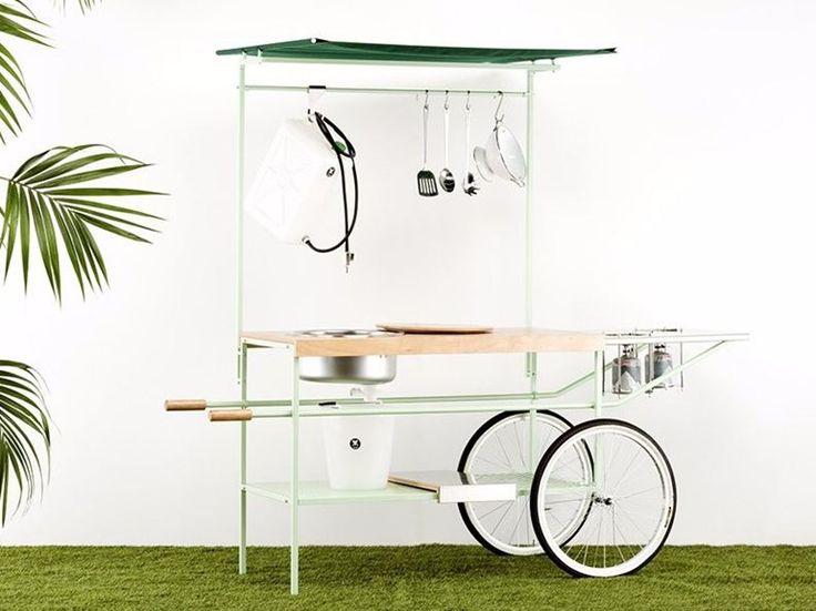 Mobile kitchen Q-CINA by Officine Tamborrino diseño MoMAng Design