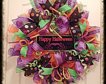 Trick or Treat Halloween Wreath-Halloween by WhisperCreekWreaths