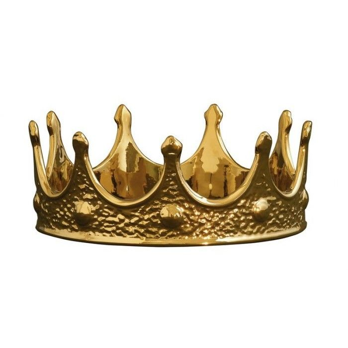 Gold Porcelain Crown by Seletti. Assert sovereignty over your household minions with this golden porcelain crown that is just the thing to add a little bling.
