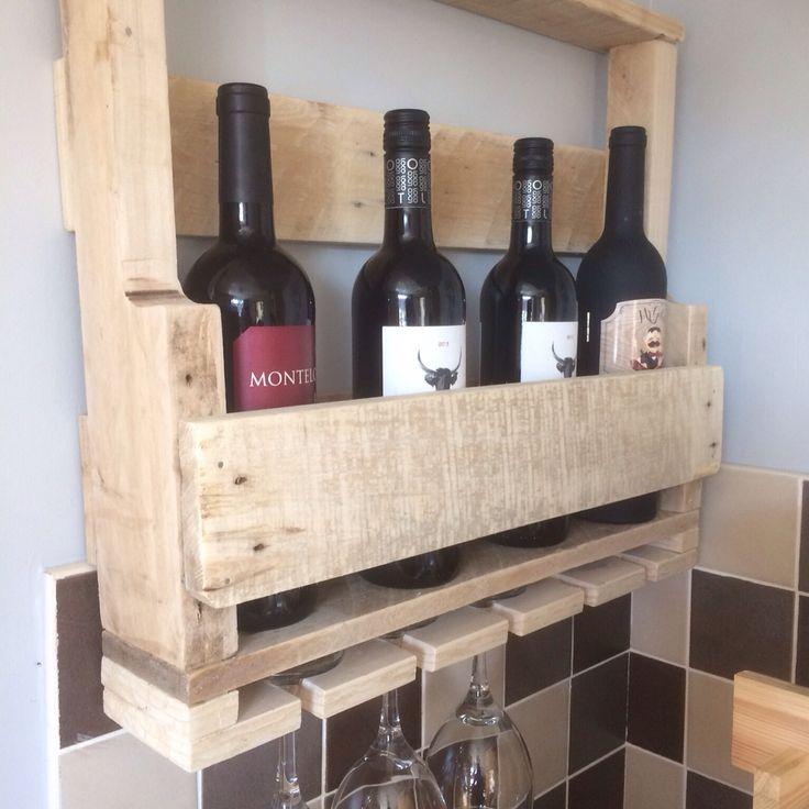 My first pallet wine rack