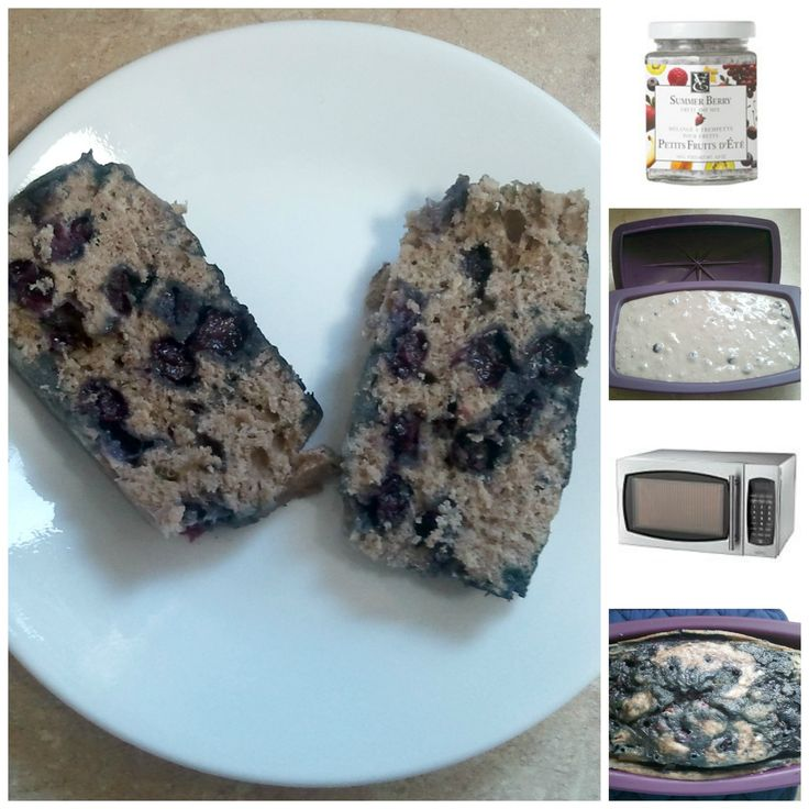 Chocolate banana blueberry loaf made with Epicure's Silicone Steamer and Summer Berry Dip Mix.