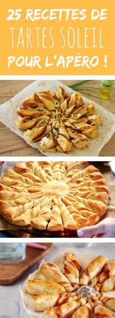 Au saumon, au jambon, au pesto, à la tomate : 25 recettes de tartes soleil pour l'apéro !