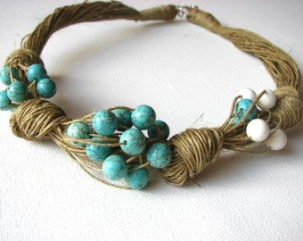 GRANDE lino collana di madreperla naturale di GreyHeartOfStone