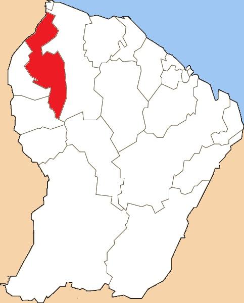 Situation du canton dans le département de la Guyane