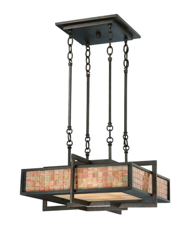 Quoizel Zenith 4 Lamp Pendant Light With Shade Next Day Delivery