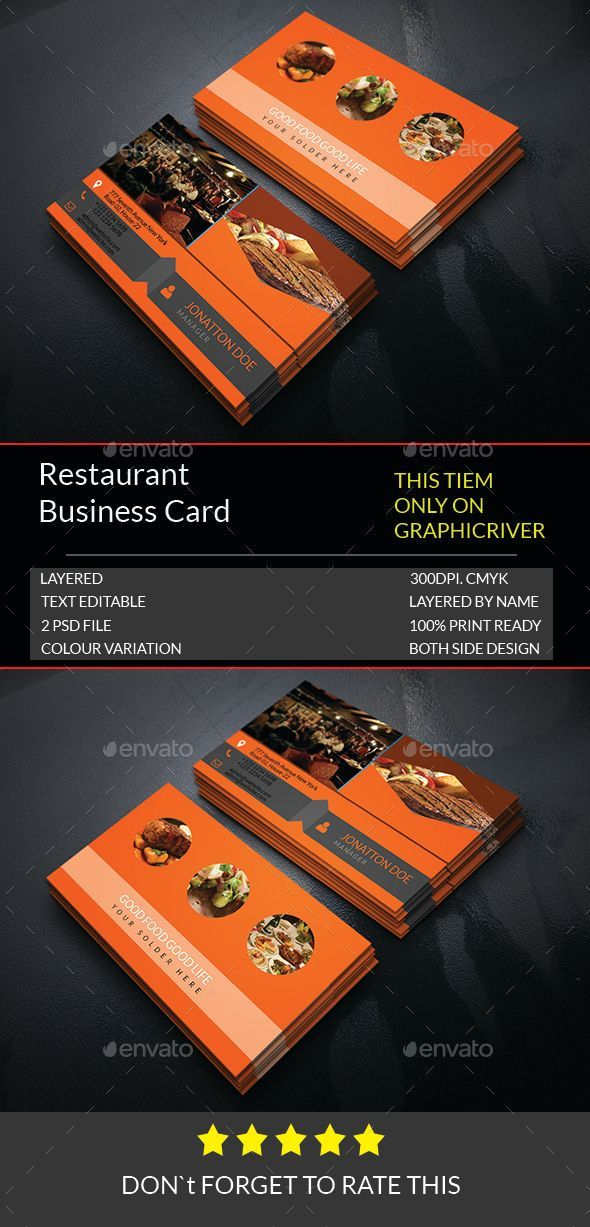 Restaurant Business Card Template176 53 best Business