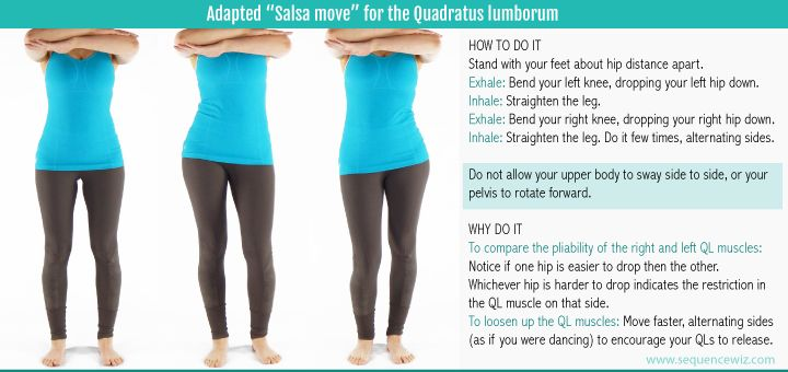 Salsa move for QL tension