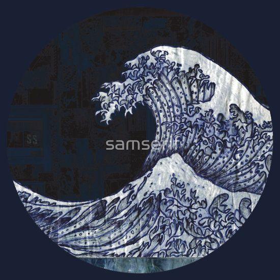 #tidal #tidalwave #tsunami #japanesewave #kanagawa #wallsnotebook #samserif