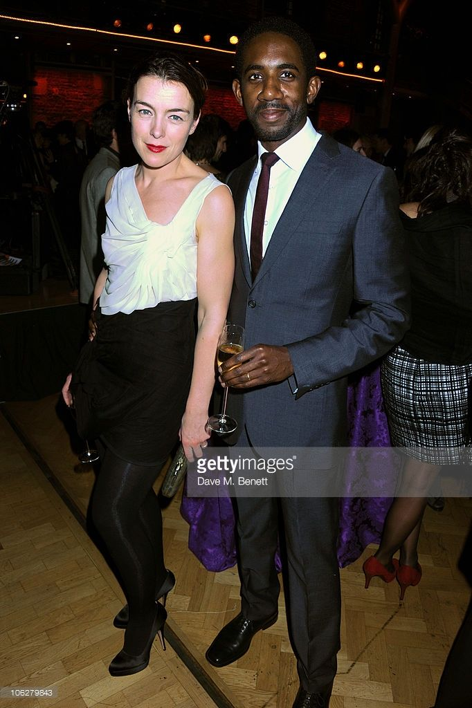 Actress/juror Olivia Williams (L) and actor/playwright Rhashan Stone attend the BFI London Film Festival Awards at LSO St. Luke's on October 27, 2010 in London, England.